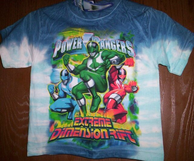 614f7fcda405 Power Rangers Time Force Tie-Dyed Shirt Boy's size 4 NeW Ranger Action  Figures
