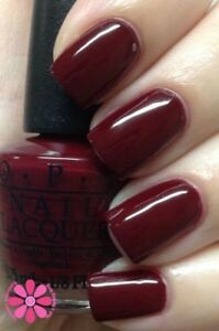 Image Is Loading Opi Nail Polish Lacquer In Malaga Wine L87