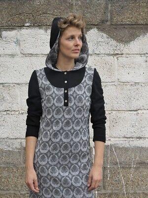 Diplomatico Kaarina Con Cappuccio Vestito Finland Design 90er True Vintage 90s Women's Dress Hoody-mostra Il Titolo Originale