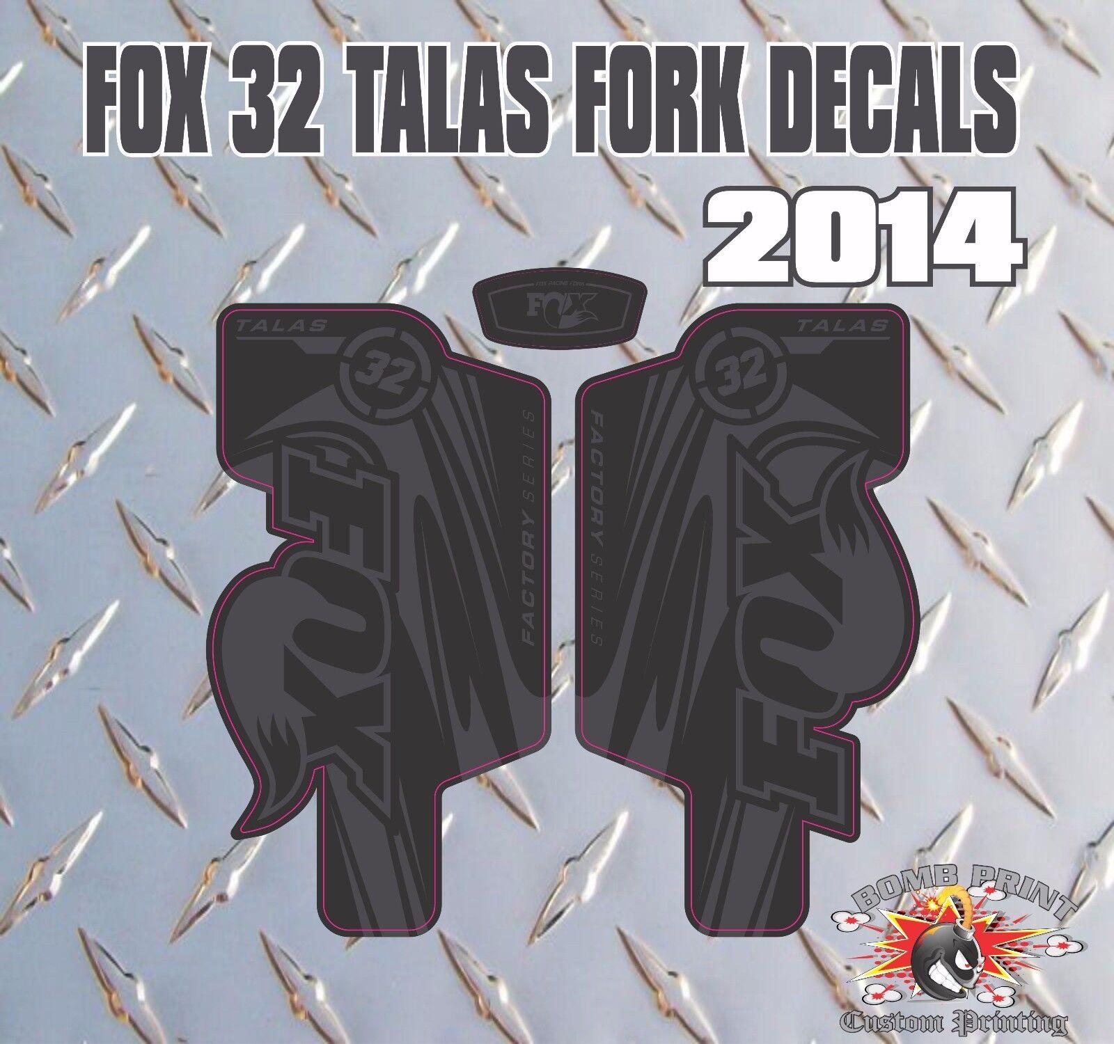 Fox 32 Fourche Talas Stickers Decals Graphics vtt DOWN DOWN DOWN HILL MTB Noir cc3ddb
