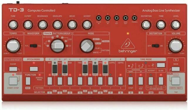 Behringer TD-3-RD Analog Bass Line Synthesizer - Rot
