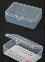 New Small Transparent Plastic Storage Box clear Square Multipurpose display