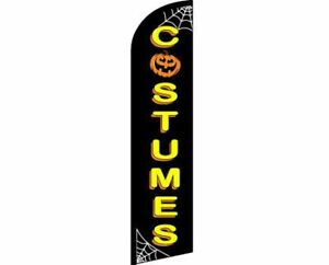HALLOWEEN-COSTUMES-Windless-Full-Curve-Top-Advertising-Banner-Flag-Kids-Adults-D