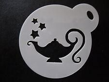 Laser cut small genie lamp design,cookie,craft & face painting stencil