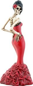 NEW-Day-of-the-Dead-Ballroom-Girl-Red-Dress-Figurine-DOD-Collectible-8172