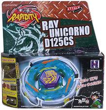 Ray Unicorno Striker Beyblade Starter Set w/ Ripcord Launcher NIP - USA SELLER!