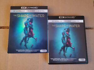 LIKE-NEW-Shape-of-Water-w-RARE-OOP-Mint-Slipcover-4K-Ultra-HD-amp-Blu-ray