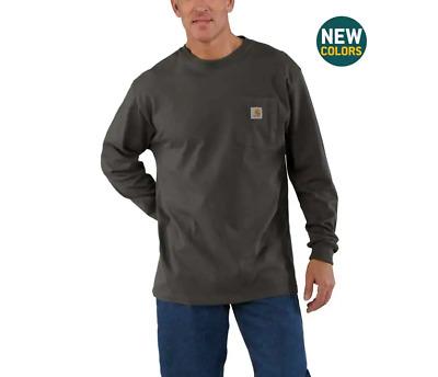 Carhartt Mens Workwear K126 Long-Sleeve Pocket T Shirt Heavyweight Jersey M-4XL