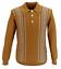 Registros-de-Troya-para-hombre-de-oro-tan-cuello-de-punto-de-lanza-Cable-De-Punto-Camisa-De-Polo miniatura 1