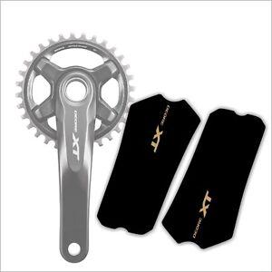 Crank Set Stickers Decals MTB SRAM X9 Mountain Bike Bicycle Adhesive 2 Pcs White