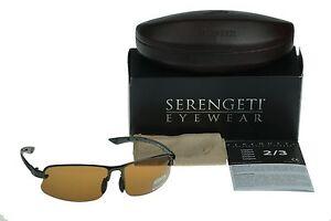 POLARIZED SERENGETI DESTARE PhD Drivers Photochromic Gunmetal Sunglasses 7687