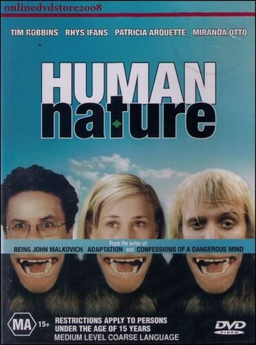 1 of 1 - HUMAN NATURE (Tim ROBBINS Rhys IFANS Patricia ARQUETTE) DVD NEW SEALED Region 4