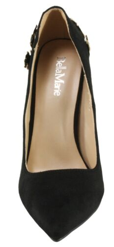 BellaMarie Women/'s Manta Faux Suede Pointy-toe High Heel Dress Pumps
