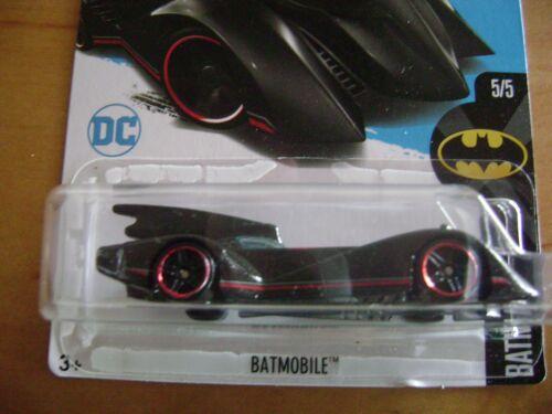 Hot Wheels 2017 Preto Batmóvel//Batman Dc Comics #5//5 Em #190//365 Cartão intl