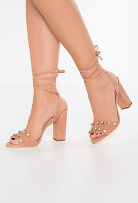 375 size 7 Loeffler Randall Elayna Crystal Studded bluesh Suede Womens Sandals