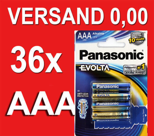 Panasonic EVOLTA  36x AAA  Batterien LR03 Micro - Top Leistung ****