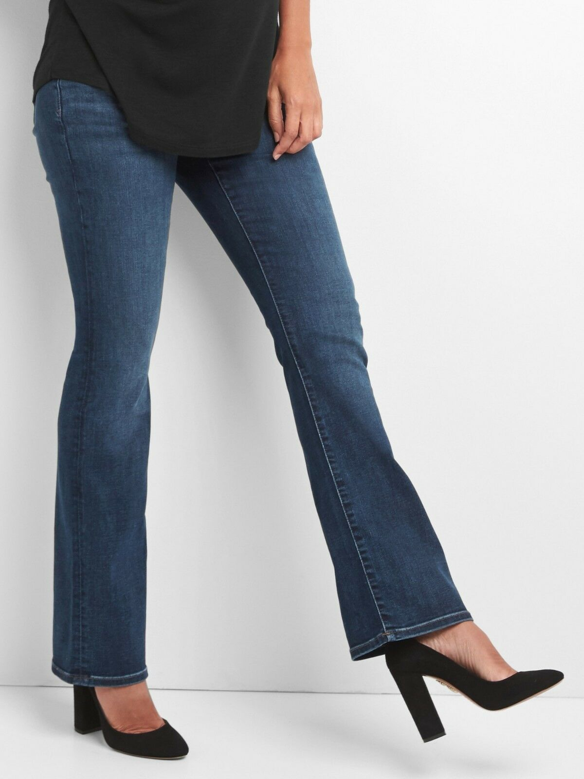 NEW NWT Gap Maternity Demi Panel Baby Perfect Boot Jeans 4  74.95