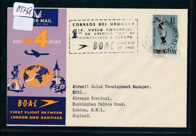 09768) BOAC FF Montevideo Uruguay - London 26.1.60