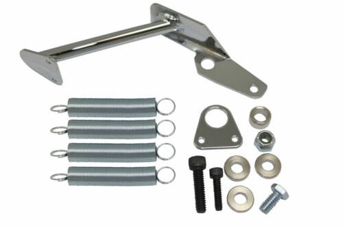 Chrome Throttle Return Cable Bracket Spring Kit Holly 2300 4150 4160 2BBL 4BBL