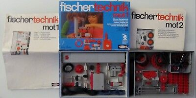 Fischertechnik Mot 1 und Getriebe rot Mot 2