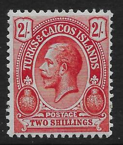 Turks-amp-Caicos-Islands-1913-21-2-Red-Blue-Green-SG-138-Mint