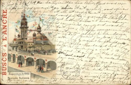 1900 Paris Expo Universelle Buscs A L'Ancre Advertising Used PostcardCover #2