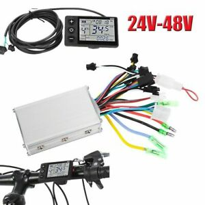 24-48V-Electric-Bicycle-E-bike-Scooter-Brushless-Motor-Speed-Controller-Set-LCD