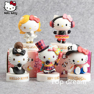 5pcs-Cute-Hello-Kitty-40th-Anniversary-Action-Figures-PVC-Toy-Doll-8cm-In-Boxed