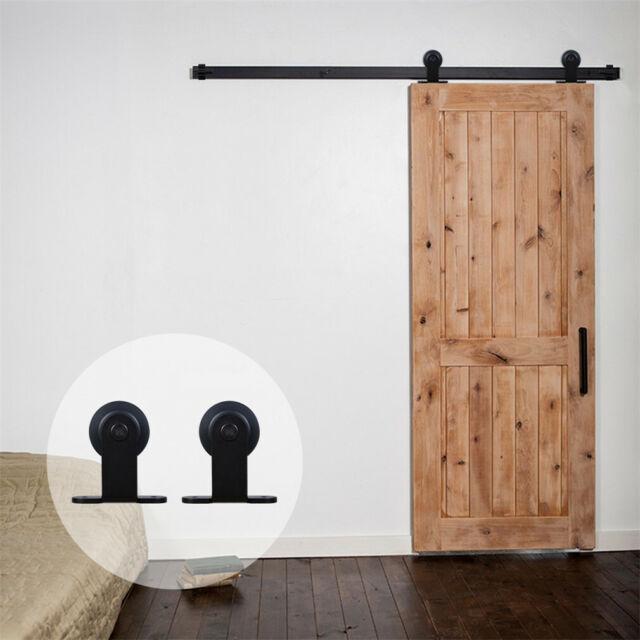 4-20FT Sliding Barn Wood Door Hardware Closet Kit For Single//Double//Bypass Doors