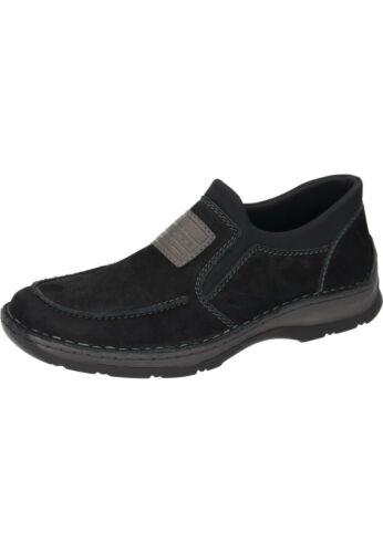 Rieker uomo in 40 02 pantofola 46 Scarpe pelle 05352 da taglia nere New7 Mocassini Tqfw8RTr