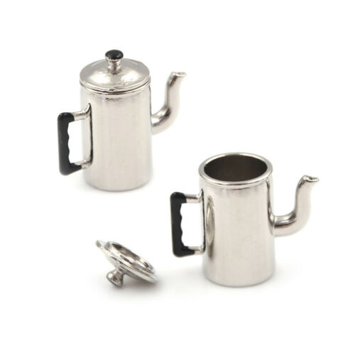 1//12 Dollhouse Miniature Metal Boiling Water Kettles toy Kitchen furnitures toys