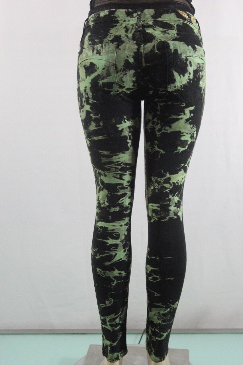 Robin's Jean New Women's Slim Skinny SZ 30 green camouflage  Inseam 29