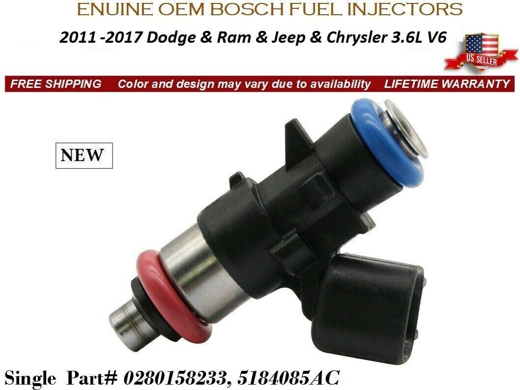 Single OEM Bosch Genuine Fuel Injector For 2011-2017 Dodge Durango 3.6L V6