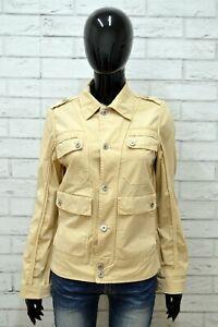 Giubbino-LIU-JO-Donna-Taglia-Size-46-Giubbotto-Giacca-Jacket-Woman-Beige-Cotone