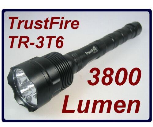 TrustFire TR-3T6 3 x XM-L T6 5-mode 3800 Lumen Flashlight Torch