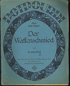 Potpourri-aus-der-Oper-034-Der-Waffenschmied-034-alte-uebergrosse-Noten