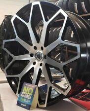 24 Inch Black Machined Borghini B28 5x115 Wheels Rims 24 Elure 046 Bw28