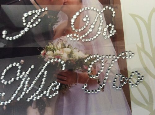 Post Free Me Too Set Diamante Wedding Shoe Sticker Rhinestone I Do Italic