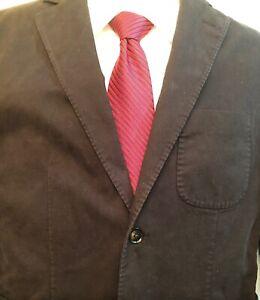 NWT-Hardy-Amies-London-Brinsley-Fit-Unstructured-Cotton-Blend-Black-Blazer-38R
