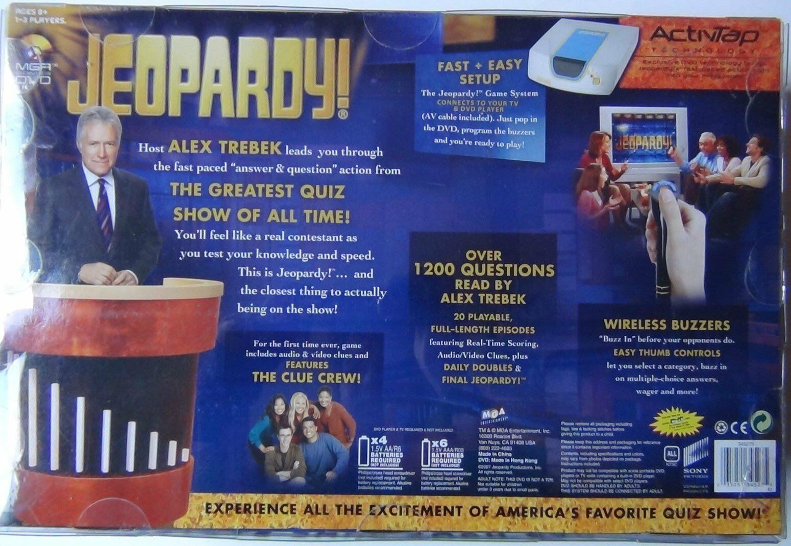 2007 Jeopardy DVD Home Game System Trivia Family Entertainment Quiz Show