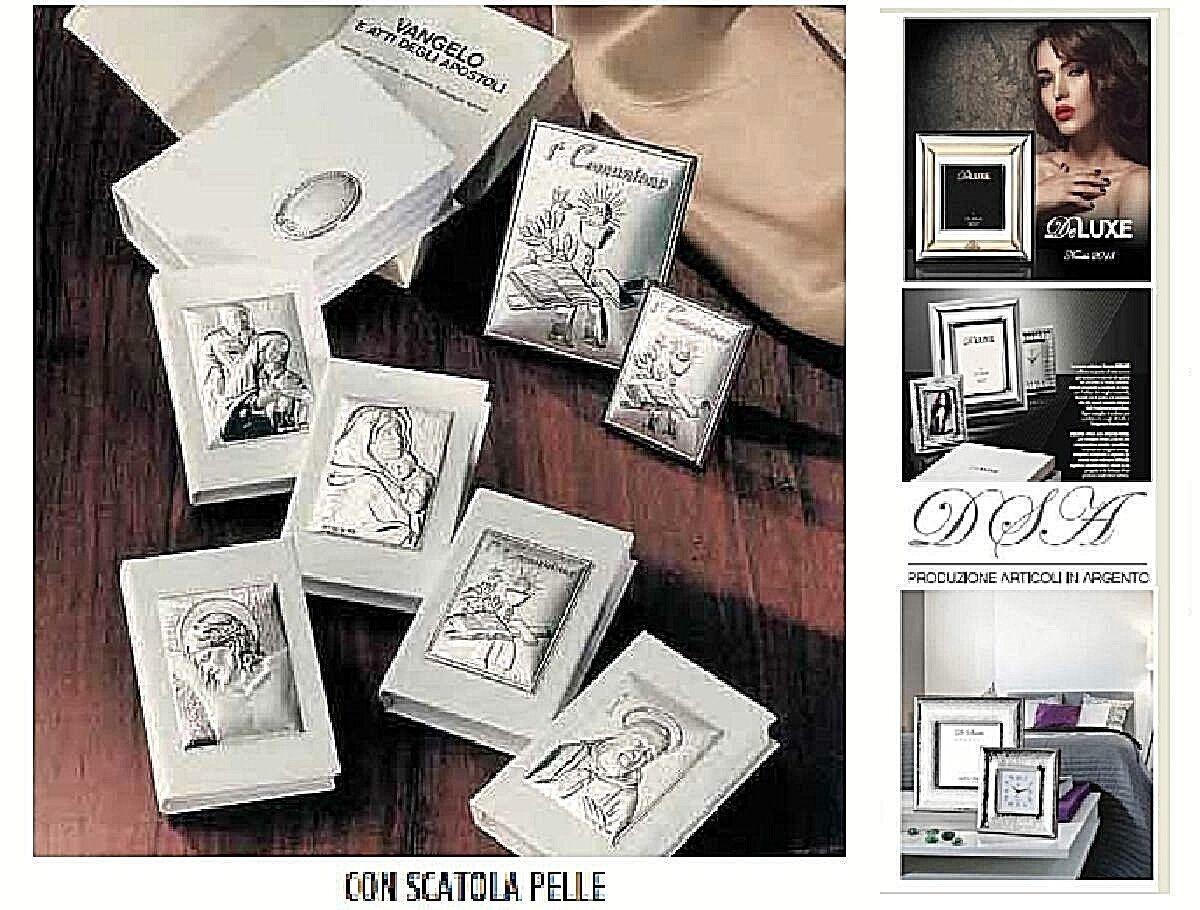 N.10 VANGELO 6x9 con SCATOLA PELLE Made in  PADRE PIO in Silber 925 % 3043