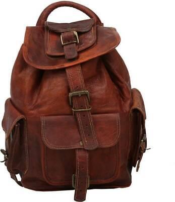 "20/"" Large Genuine Leather Back Pack Rucksack Travel Bag For Men/'s and Women/'s."