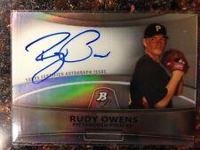 Rudy Owens RC Autograph Refractor 2010 Bowman Platinum Prospects #RU Athletics