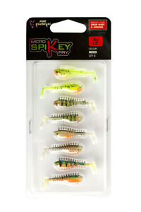FOX-Rage-NEW-Micro-Lures-Mixed-Colours-Packs-Grub-Tail-Spikey-Fry-Tiddler-Fast