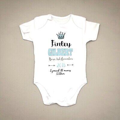 PERSONALISED baby girl clothing keepsake bodysuit babygrow **FANTASTIC GIFT**