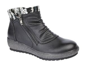 Boot Low Collar Outside Trim Ladies Side Ankle Boots Knitted Zip Fashion vw66qg1Ya