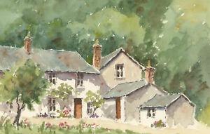 John-A-Case-Contemporary-Watercolour-Cottage-Study