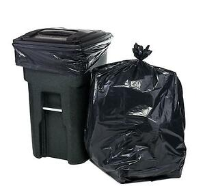 65 Gallon Trash Bags For Toter Black 50 Garbage Per Case Cans Wastebaskets Home