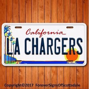 San Diego Chargers NFL AFC West Team Aluminum License Plate Tag California New!