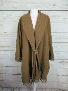 Manteau-cape-marron-en-laine-vintage-Morghi-en-tres-bon-etat-taille-unique